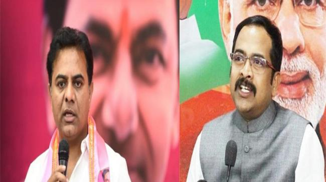 The war of words between KTR and BJP leaders were triggered by BJP Working President JP Nadda, who in his recent visit to Hyderabad, launched a scathing attack on TRS and the K Chandrashekar Rao's government - Sakshi Post