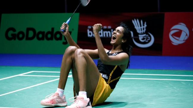 India's P V Sindhu stood one win away from an elusive World Championships gold medal after storming into her third successive final - Sakshi Post