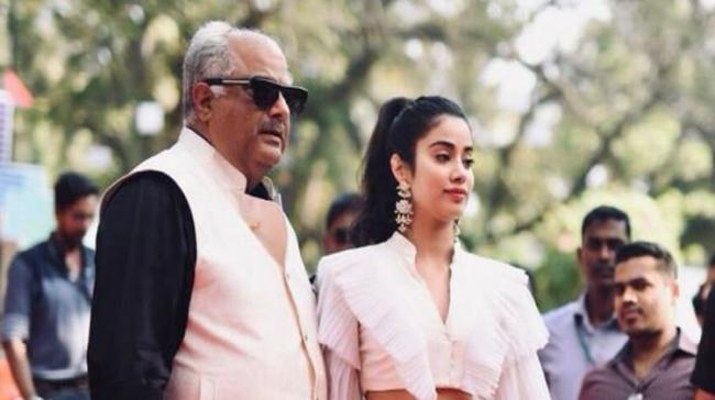 Boney Kapoor, a star producer and father of stars in their own right, Janhvi Kapoor and Arjun Kapoor - Sakshi Post