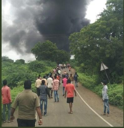 At least 10 workers were killed and 40 injured in an explosion of gas cylinders at a chemical factory in Dhule district of Maharashtra on Saturday - Sakshi Post