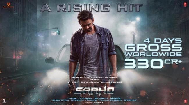 As per official figures Saaho four day collections stand at Re 330 crore gross worldwide. - Sakshi Post