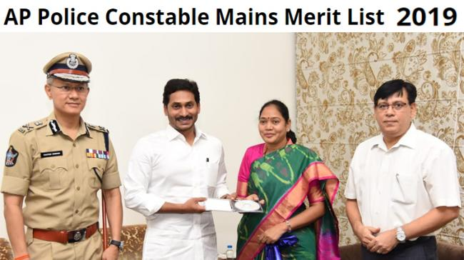 AP CM YS Jagan Mohan Reddy released AP Police Constable Examination Mains Results 2019 - Sakshi Post