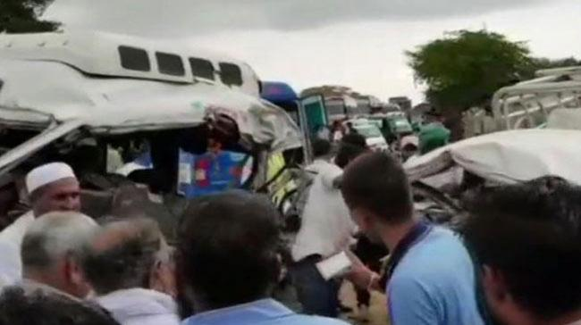 6 people were killed and 5 others injured in an accident when the speeding car rammed into a minibus on Friday in near Jodhpur. - Sakshi Post