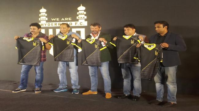 The jersey sports a contemporary look and is inspired by the traditional Nizami Sherwani and city's architecture and the colours represent the heritage and pride of the city. - Sakshi Post