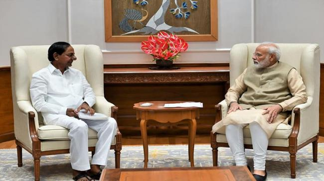 Telangana Chief Minister K Chandrasekhar Rao on Friday called on Prime Minister Narendra Modi and discussed pending issues under the Andhra Pradesh Reorganisation Act - Sakshi Post