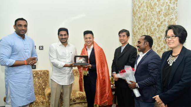 A six-people delegation of officials from Singapore met Andhra Pradesh Minister for Industries, Commerce, and Information Technology Mekapati Goutham Reddy, on Wednesday - Sakshi Post