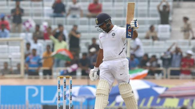 India opener Rohit Sharma on Sunday became only the fourth batsman to hit a double hundred in Test and ODI cricket. - Sakshi Post