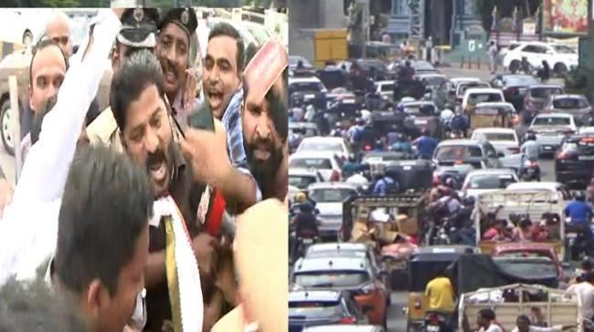 Heavy Traffic Jam in Secunderabad to Punjagutta  - Sakshi Post