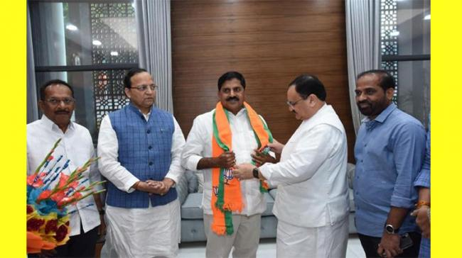 Chadipirala Adi Narayana Reddy joined the BJP in the presence of the party's working president JP Nadda and national general secretary Arun Singh o - Sakshi Post