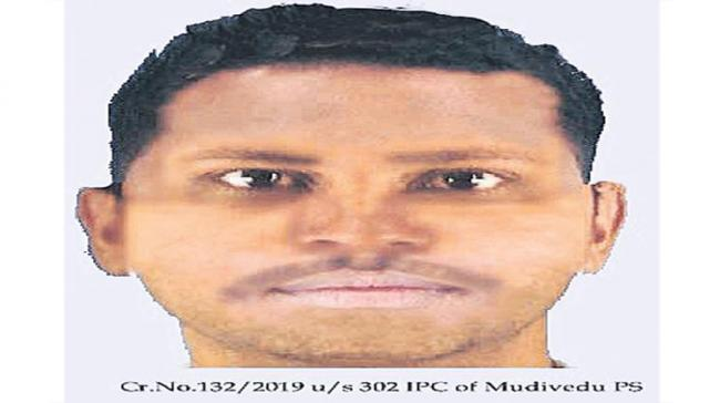 Sketch of the suspect  released by Mudivedu Police - Sakshi Post