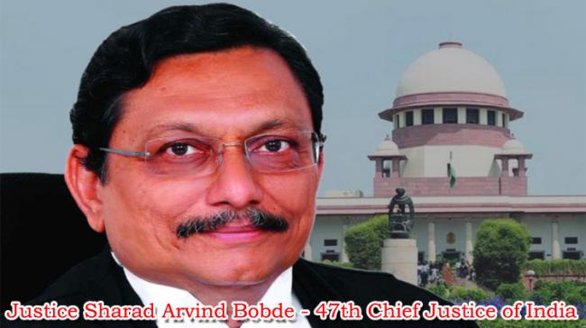 Justice Sharad Arvind Bobde was on Monday administered oath as the 47th Chief Justice of India - Sakshi Post