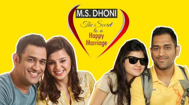 MS Dhoni with wife Sakshi Dhoni