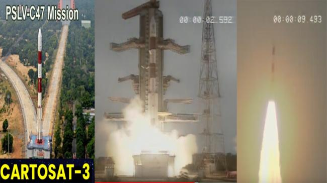 PSLV-C47  Cartosat 3 launch visuals (ISRO) - Sakshi Post