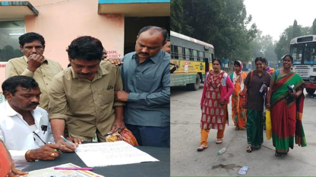 RTC workers re-join duty - Sakshi Post