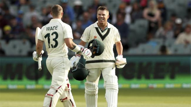 Australia opener David Warner hit a rare triple century during the second Test against Pakistan in Adelaide on Saturday, joining an elite group of players to reach the milestone. - Sakshi Post