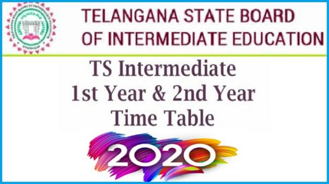 Telangana 1st And 2nd Year Intermediate Exam Time Table 2020 - Sakshi Post