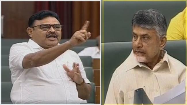 YSRCP leader Ambati Rambabu, TDP Chief N Chandrababu Naidu - Sakshi Post