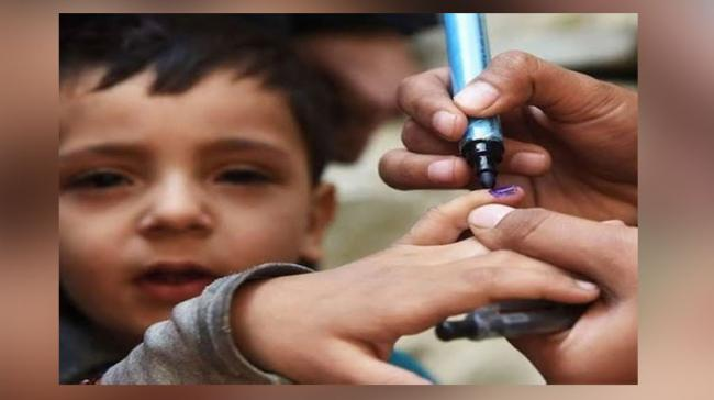 The markers, which are used to mark the fingers of children after administering them polio vaccine, are approved by the World Health Organisation (WHO) - Sakshi Post