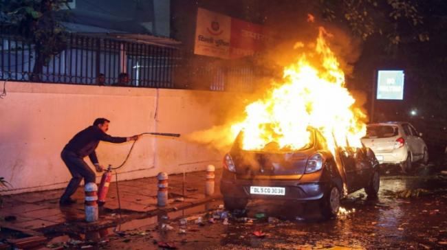 Violence while during anti-CAA protests (File Image) - Sakshi Post