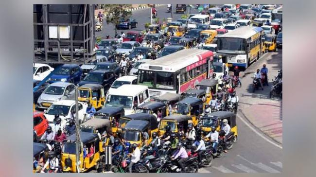 Representational Image For Traffic - Sakshi Post