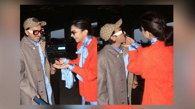 Deepika Padukone celebrating her birthday with Ranveer Singh at Mumbai airport - Sakshi Post