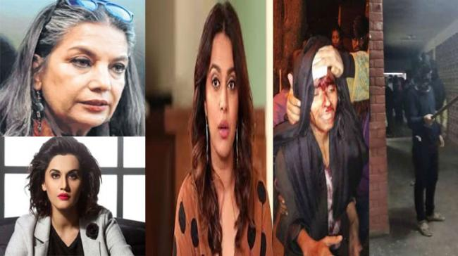 The attack on JNU has been widely condemned by Bollywood celebrities - Sakshi Post