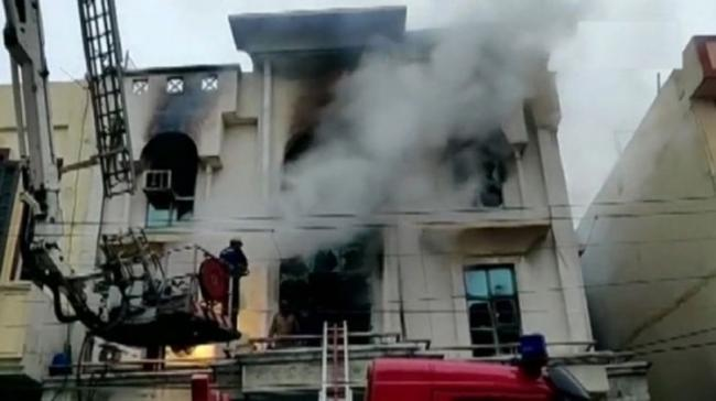 Fire broke out in a three-storeyed printing press in the Patparganj industrial area, Delhi - Sakshi Post