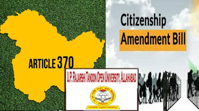 UPRTOU 3-Month Certificate Course On CAA, Article 370 - Sakshi Post
