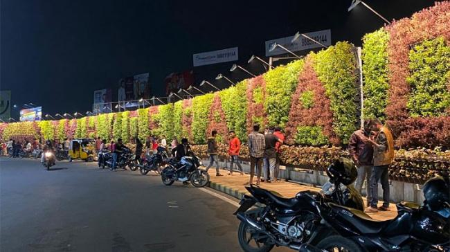 Vertical Garden inaugurated at Khairtabad Junction - Sakshi Post