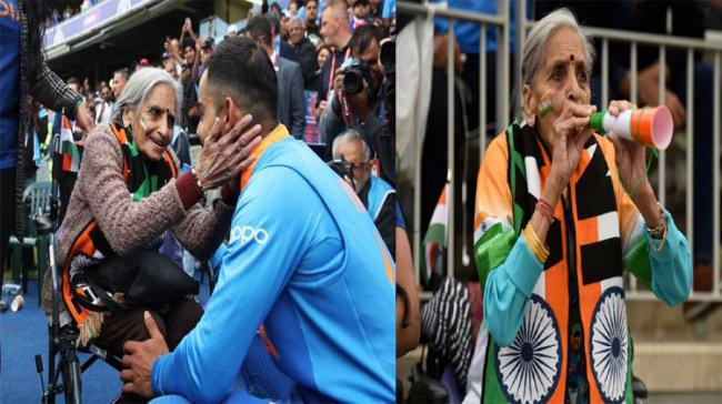 The wheelchair-bound elderly woman, Charulata Patel caught the attention while cheering the Indian cricket team during 2019 World Cup - Sakshi Post