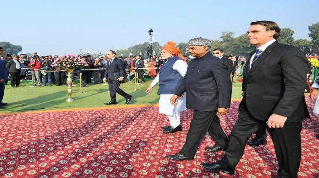 On the 71st Republic Day, India's chief guest is Brazil's President Jair Messias Bolsonaro - Sakshi Post
