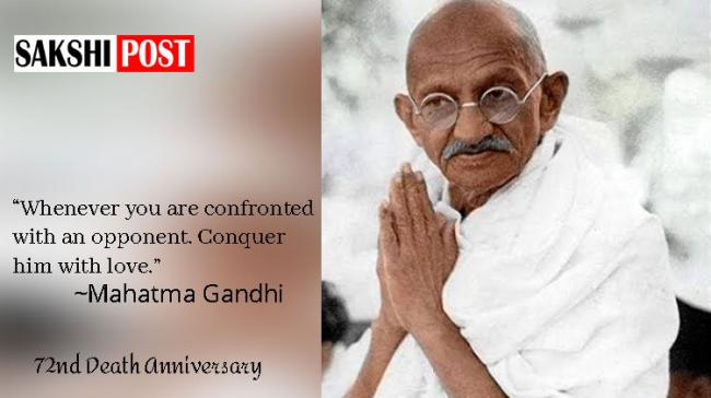 Gandhiji's life story is a heroic effort to establish values of Non-violence and Truth in human lives - Sakshi Post