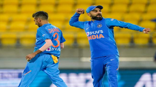 India beat New Zealand via Super Over in the fourth T20 International after a second successive tie here on Friday. - Sakshi Post