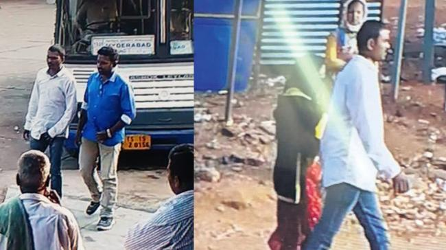 CCTV Footage of the accused walking with  the woman - Sakshi Post