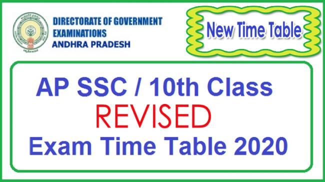 AP SSC Exams 2020 | New Revised Time Table Announced - Sakshi Post