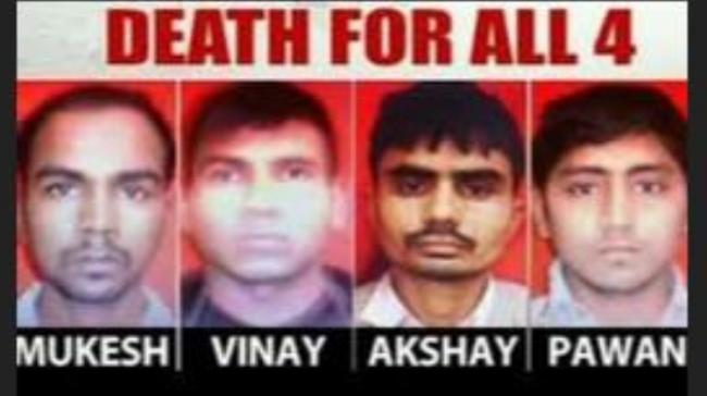 Four men convicted in Nirbhaya case hanged today - Sakshi Post