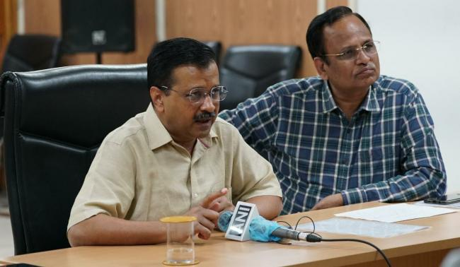 Arvind Kejriwal Interacted with Delhi govt doctors and paramedic staff on COVID-19 duty over video conference. - Sakshi Post