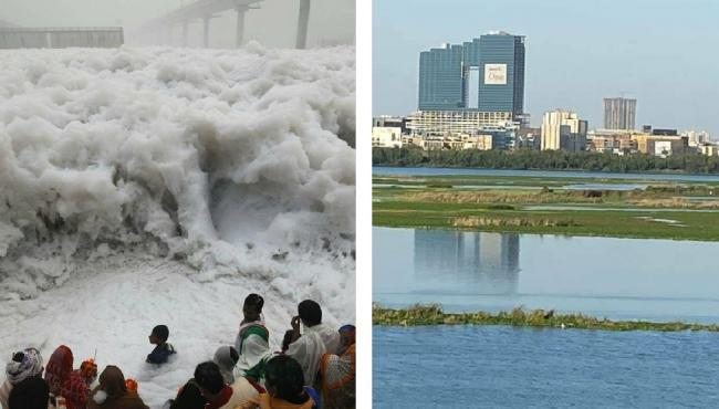Unbelievable But True! River Yamuna Is This Clean Now - Sakshi Post