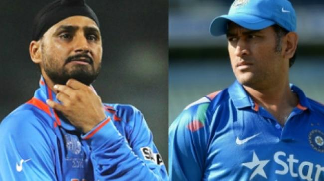 Harbhajan Singh and MS Dhoni - Sakshi Post