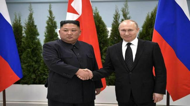 Kim Jong Un and Vladimir Putin - Sakshi Post