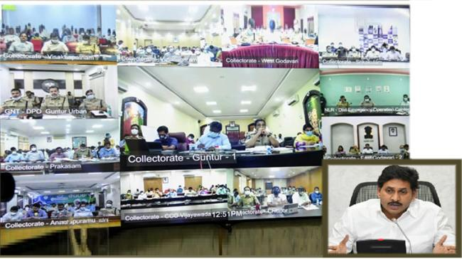 AP CM YS Jagan Video Conference with District Collectors and SPs today - Sakshi Post