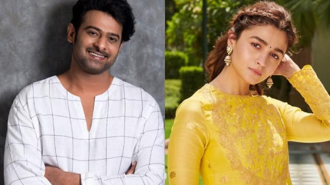 Prabhas and Alia Bhatt - Sakshi Post