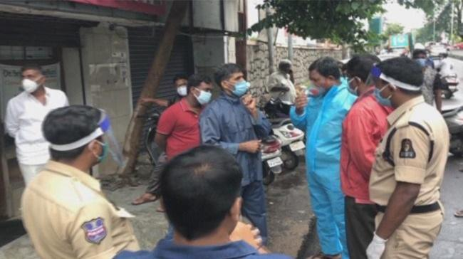 Hyderabad police conducting inquiry at the incident site - Sakshi Post
