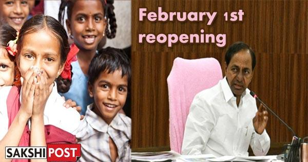 Schools reopen from February 1 2021 for classes 9 onward in Telangana - Sakshi Post