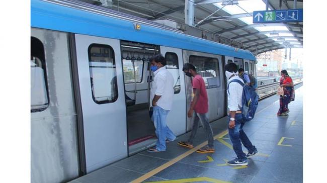 Hyderabad Metro Train Services during Night Curfew  - Sakshi Post
