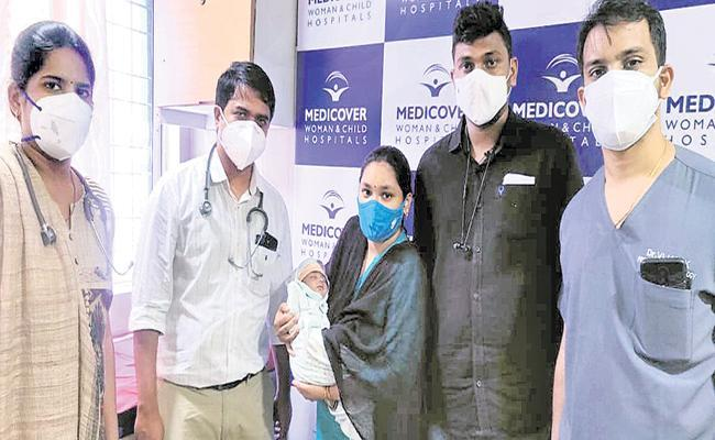 9-Day Baby Beats Post Natal COVID Infection in Visakhapatnam - Sakshi Post