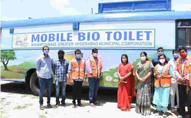 RTC Buses Converted Into Mobile Toilets In Hyderabad, GHMC - Sakshi Post