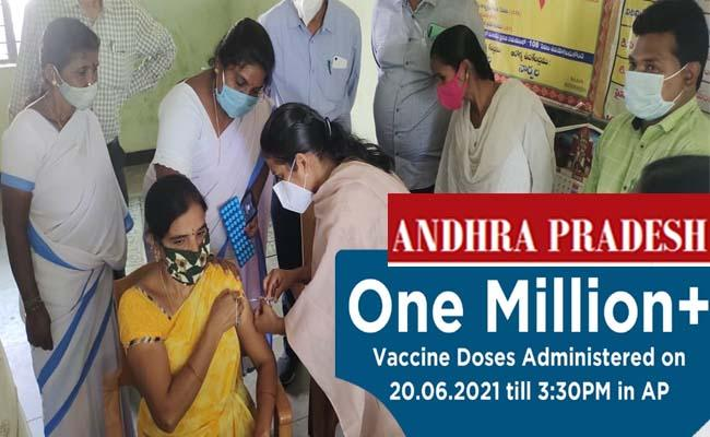 Record number of  one million (10 lakh ) people vaccinated in Andhra Pradesh  June 20, 2021 - Sakshi Post