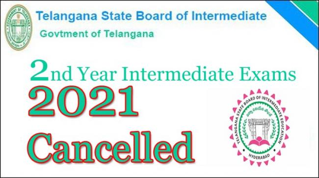 Telangana Intermediate Second Year Exams 2021 Cancelled by Govt - Sakshi Post