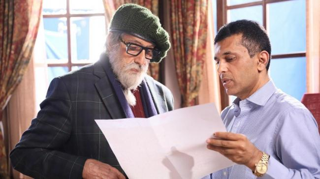 Bollywood actor Amitabh Bachchan and Chehre maker Anand Pandit - Sakshi Post